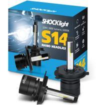 Lâmpada Super Led Mini Shocklight 32w S14 Nano H4 6000k -