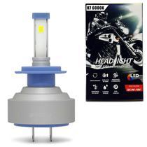 Lâmpada Super LED New Headlight H7 6000K 12V 35W 3200LM Efeito Xênon Plug and Play Moto - Shocklight