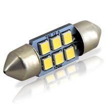 Lâmpada Torpedo 32mm 6 LEDs 12V Luz Branca - Autopoli