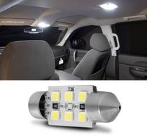 Lâmpada Torpedo 6 LEDS 36MM 12V 1 Polo Branca para Luz de Teto e Luz de Placa de Veículo Automotivo - Autopoli