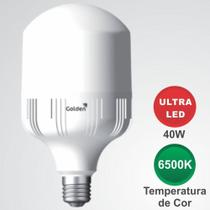 Lâmpada Ultraled Alta Potência 40W 3.600 Lúmens Base E27 6500K cor Branca Bivolt - Certificada - Makled