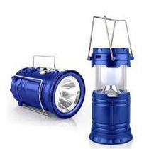 Lampião Solar E Lanterna Led 2 Em 1 Recarregável Com Saída Usb - Mega
