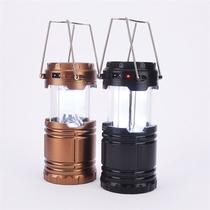Lampiao solar led luminaria lanterna de emergencia recarregavel ou pilhas com entrada usb para recar - Represent