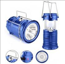 Lampião Solar Led USB Lanterna Bateria Recarregável Retrátil LK-5800 - LUATEK