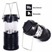 Lampião Solar Luminária Recarregável Usb Lanterna Barraca - King