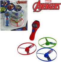 Lança Discos Lançador de Brinquedo Vingadores Com 3 Discos - Etitoys