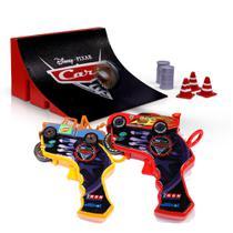 Lançador de Carros - Disney Cars - Spin Wheels - Mate e McQueen - Yellow -