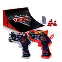 Lançador de Carros - Disney Cars - Spin Wheels - Shu Todoroki e McQueen - Yellow -