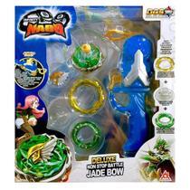Lançador e Pião de Batalha - Infinity Nado - Deluxe Non-Stop Battle Pack - Jade Bow - Candide -