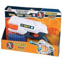 Lancador X Darts Pls C/16 Dardos Braskit Unidade -