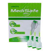 Lancetas de Segurança 29G 200 unidades MediSafe -