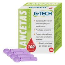 Lancetas Para Lancetador Com 100 Unidades G-Tech -
