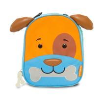 Lancheira Infantil Animais Cachorro - Linha Let's go Comtac -
