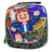Lancheira Térmica Infantil Minecraft Block Game Vozz - Pacific