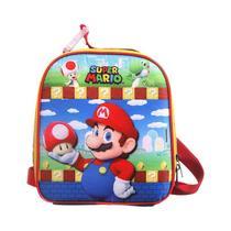 Lancheira Termica Soft Super Mario Com Porta Lanche E Garrafa 11741 Dmw -