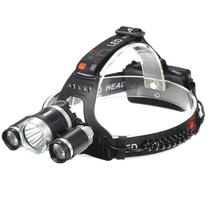 Lanterna Cabeça Pesca Led Camping Bicicleta Recarregável - LUATEK