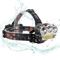 Lanterna Cabeça Recarregavel Led T6 e Cob 15000 lumens GT600 - Lorben -