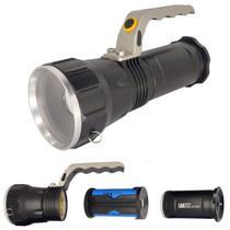Lanterna Caça Pesca Trilha Led Holofote 3 modos Recarregável - LUATEK