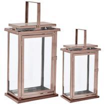 Lanterna cobre em vidro  e aço inoxidável - 2 pcs - Mart