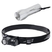 Lanterna de Cabeça Boost 1 LED Super Bright + Mini Lanterna 9 LEDs Blitz Nautika -