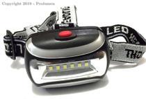 Lanterna de cabeça com 6 LEDs - 3417 - Prolumen