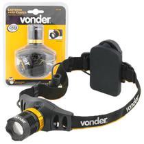 Lanterna de cabeça led cree profissional tática policial 3w foco ajustável 130lm 3 estágios vonder -