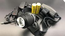 Lanterna De Cabeça Led T6 Cree C/ Zoom Recarregavel Policial - Jyx