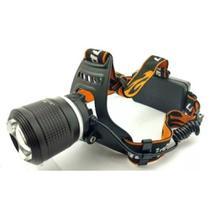 Lanterna De Cabeça Led T6 Cree Com Zoom Recarregavel Policial - B Max