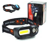 Lanterna De Cabeça  Luz de Led Forte Recarregavel 3 Niveis 2 lanternas - Junai