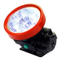 Lanterna de Cabeça ou Capacete 9 Leds - Recarregável MB54355 - Mbtech