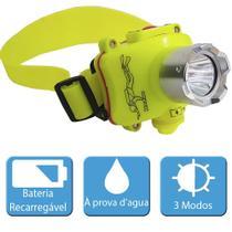 Lanterna De Cabeça Recarregável Profissional Tatica para Mergulho - Playshop Eletronicos
