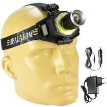 Lanterna de Cabeça Recarregável Zoom Ajustável LED Cree CBRN10660 - Commerce brasil