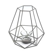 Lanterna Decorativa Metal Mandy Cinza - Evolux