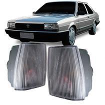 Lanterna Dianteira Pisca Volkswagen Santana CS CG CD GL 1986 em Diante Cristal Lado Esquerdo -