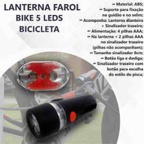 Lanterna Farol Bike 5 Leds Bicicleta Traseiro Prática - Loja Catarinese