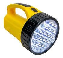 Lanterna Holofote de mão 19 LED com alça Recarregavel - DP LED