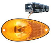 Lanterna Lateral  Pisca LED AM 24V Bolha Ônibus Caio / Mascarello / Marcopolo - Silo