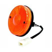 Lanterna lateral randon  90mm amarelo com chicote para conjunto de lanterna traseira - Rn lanternas
