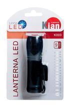 Lanterna Led 9 Leds Alumínio 3 Pilhas Aaa 8367 - Kian -