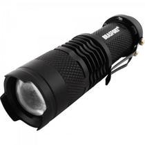 Lanterna LED C/Zoom Mini Preto BRASFORT -