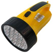 Lanterna LED Luminária Emergência WMTLED-1706 Amarelo 19 LEDS 1300mAh - Commerce brasil