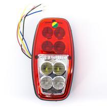 Lanterna Led para Carretinha Seta, Ré, Farolete e Freio - Reboque Tipo canoinha - Pradolux