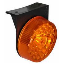 Lanterna led redonda com suporte lente lisa - Ambar - Pradolux