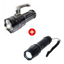 Lanterna Led Tática Militar X900 + Lanterna Led Holofote - Militar x900 / bmax