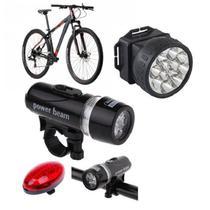Lanterna Luz Segurança Bicicleta Traseira e Frontal Capacete Led - Western