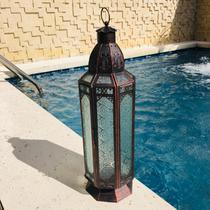 Lanterna Marroquina Decorativa Design Octagonal 51x15cm - Ef
