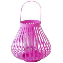 Lanterna marroquina rosa mini basket trigonal urban -