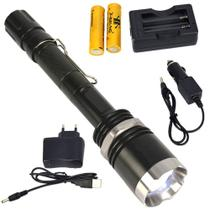 Lanterna Policial LED CREE T6 Recarregável Zoom CBRN15337 - COMMERCE BRASIL