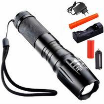 Lanterna Policial Recarregável Zoom CBRN10653 - COMMERCE BRASIL