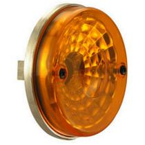 Lanterna redonda universal com lente lisa - Ambar - Pradolux